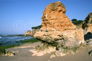 SC-0009 Sculptured sandstone rocks, Portugal