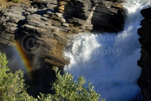 SC-0020 Athabasca Falls and rainbow, Jasper National Park, Canad