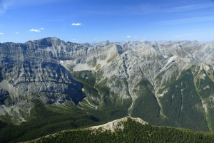 SC-0039 Ariel view of Assiniboine mountain range, British Columb