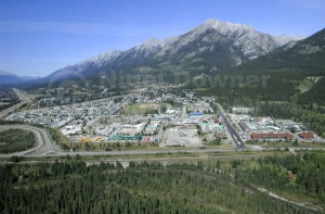 SC-0042 Ariel view of Canmore town, British Columbia, Canada