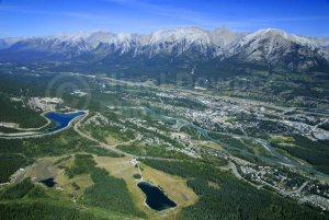 SC-0043 Ariel view of Canmore town, British Columbia