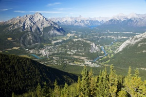 SC-0045 Banff town from Sulphur Mountain