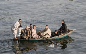 TR-0013 Happy local Egyptians in a rowing boat