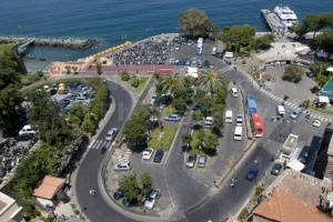 TR-0042 An elevated view of the Marina Piccola Sorrento Italy