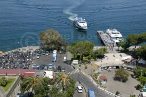 TR-0043 An elevated view of the Marina Piccola Sorrento Italy