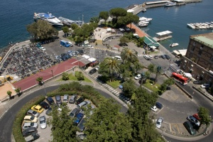 TR-0044 An elevated view of the Marina Piccola Sorrento Italy