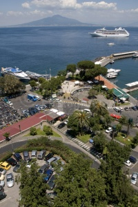 TR-0045 An elevated view of the Marina Piccola Sorrento Italy