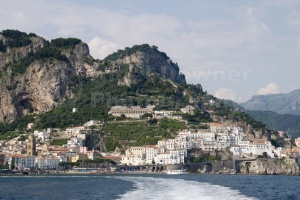 TR-0053 Amalfi town in Italy from the sea