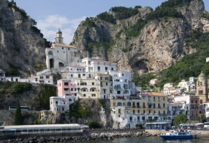 TR-0054 Amalfi town in Italy from the sea