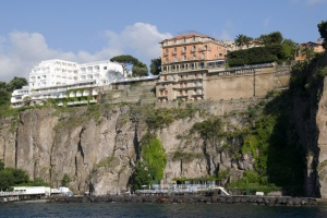 TR-0060 The Hotel Ambasciatori from the sea. Sorrento, Italy