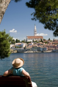 TR-0066 Rovinj old town Croatia from St Catherine's Island