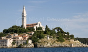 TR-0070 Rovinj old town Croatia from St Catherine's Island