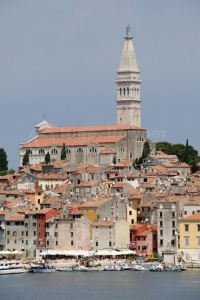 TR-0071 Rovinj old town Croatia from St Catherine's Island