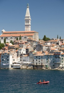 TR-0072 Rovinj old town Croatia from St Catherine's Island