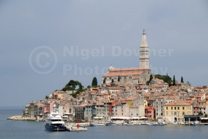 TR-0073 Rovinj old town Croatia from St Catherine's Island