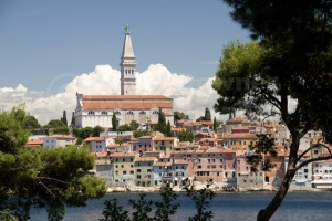 TR-0074 Rovinj old town Croatia from St Catherine's Island