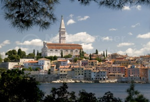 TR-0075 Rovinj old town Croatia from St Catherine's Island