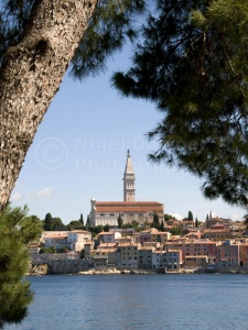 TR-0076 Rovinj old town Croatia from St Catherine's Island
