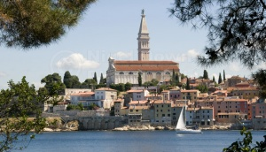 TR-0077 Rovinj old town Croatia from St Catherine's Island