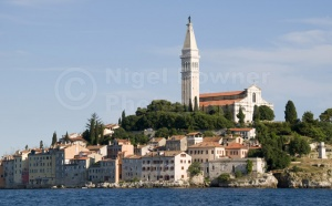 TR-0078 Rovinj old town Croatia from St Catherine's Island