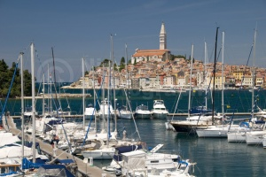 TR-0080 Rovinj old town and south harbour Croatia