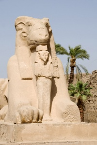 TR-0102 Sculptured ram-headed sphinx