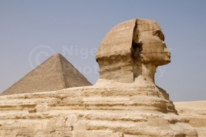 TR-0117 The Great Sphinx and pyramid in the background