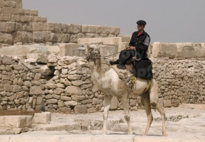 TR-0118 A tourist policeman sitting on his camel