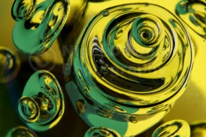 AB-0037 Glass bubbles reflections abstract