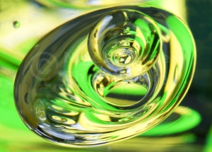 AB-0049 Glass bubble reflections abstract