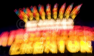 AB-0053 Fairground neon sign abstract